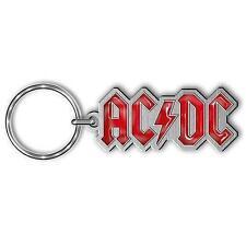 """AC/DC SCHLÜSSELANHÄNGER # 7 / METALL """"LOGO ROT"""" - KEYCHAIN"""