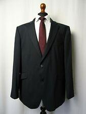 Herren die Label Tailored Fit schwarz Nadelstreifen Wolle Blend Suit 44r w38 l31 ld583