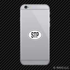 STP São Tomé and Príncipe Country Code Oval Cell Phone Sticker Mobile Toméan