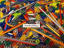 100 KNEX RODS CONNECTORS Random Mixed K'nex Parts Pieces Lot Red Blue Green Gray