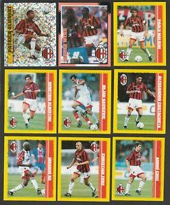 SET COMPLETO 9 FIGURINE CALCIATORI MERLIN KICK OFF 1987-88 MILAN