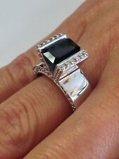 14kt White Gold Ring with Natural Sapphire & Diamond