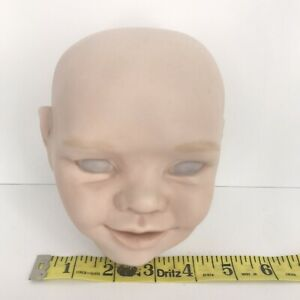 "Bisque Doll Head Partially Painted Writing on Back ""Kristen"" 2002/ 2003"