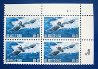 Sc # 3372 ~ Plate # Block ~ 33 cent Los Angeles Class Submarine Issue (dg3)