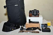 Fujifilm X-T1 16.3MP (Black) Body Only w/NEW Grip, Half Case, Bag+ Extras_MINT