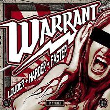 Warrant - Louder Harder Faster [Used Very Good Vinyl LP] Black, Gatefo