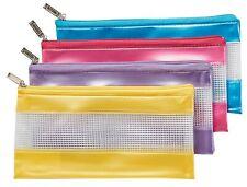 Sovereign Pencil Case 228x114mm PVC Mesh 24635 PURPLE