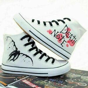Death Note Canvas Shoes High Top Flat Unisex Lovers Causal Shoes