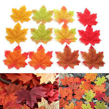 300pcs Autumn Fall Silk Leaves Artifical Foliage Maple Wedding Decoration Mixed