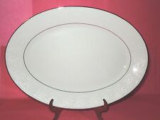 """NORITAKE TAHOE CONTEMPORARY FINE CHINA 14"""" OVAL SERVING PLATTER   (2585)"""