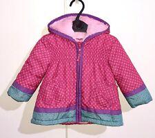 BLUEZOO Fleece Lined Jacket Baby Girls Warm Pink Coat Age 6-9 Months