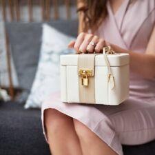 Dulwich Designs Medium Light Cream And Mink Two Tone Jewellery Box