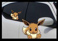 Eevee Pokemon Peeking peekaboo Anime Window Car Decal Sticker Go Laptop JDM