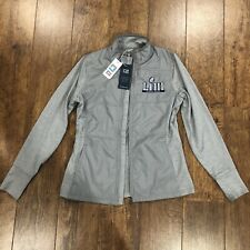 NWT Superbowl LIII NFL Cutter & Buck Drytec 50+ Womens Fitted Jacket S/P