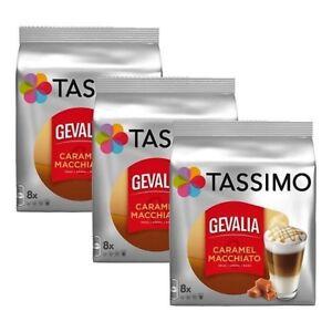 3 x Packs Tassimo Gevalia Latte Macchiato Caramel T Discs Pods - 24 Large Drinks