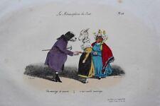 J.-J. GRANDVILLE un Mariage de Raison pl.28 Métamorphoses RARE 1e ed. 1828 BULLA
