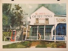 FINE ART LITHOGRAPH: General Store By Fh Wagner 24 X 18