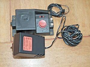 HORNBY R.965 TRAIN CONTROLLER & R.964 PLUG TRANSFORMER TESTED & WORKING