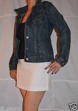 Women Denim Jacket Harrington Buttons Strong quality Free Base Size 10