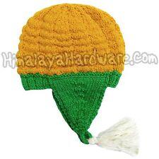 punto lana maíz Sombrero: Amarillo planta verde oreja Gorro Granja Granjero