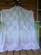 """Estate Vintage J.C. Penney Lace Curtain Panel 54"""" x 64"""" - Made Usa - White"""