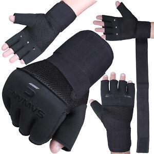 SAWANS® Boxing Neoprene Inner Hand Wraps Padded Sparring Gloves MMA Wrist Straps