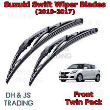 """(10-17) Suzuki Swift MK4 Front Wiper Blades Windscreen 21"""" 18"""" Hook Type"""