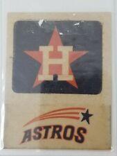 Vintage 1960s Houston Astros Orange Star Fleer Sticker Shooting Star Old Logo