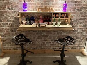 Wall Hung Drinks Bar. Christmas Gift. Personalised. Inside Or Outside Drinks Bar