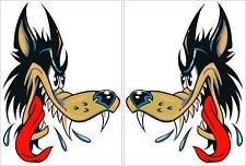 "Big Bad Wolf Decal Pair 24"" EACH"