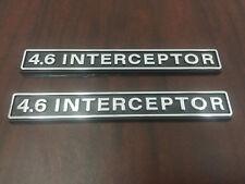 POLICE P71 4.6 INTERCEPTOR FENDER EMBLEMS. ONE PAIR