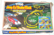 Vintage Tyco JEEP CJ SNAKE TRACK Nite Glow Race Car Set Complete w/ Box