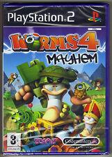 PS2 Worms 4 Mayhem, UK Pal, Brand New & Sony Factory Sealed