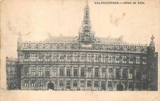 VALENCIENNES FRANCE HOTEL DE VILLE WW1 MILITARY FELDPOST POSTCARD 1915
