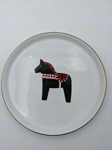 """Project 62 Porcelain Christmas Plate Replacement 7"""" Horse Target"""