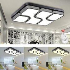 64W Dimmbar LED Deckenlampe Deckenleuchte Wohnzimmer Acryl Küchen Lampe Mit FB