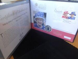 2015 FINE SILVER AUSTRALIA KOOKABURRA $1 COIN COVER COA QUEEN BIRTHDAY 495