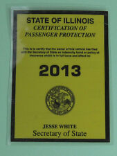 2013 Chicago Illinois Commercial Vehicle Insurance Tax License Decal Sticker