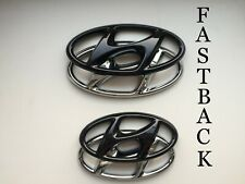 Hyundai i30N Fastback Set Cover Emblem hochglanz–schwarz blacked out Badge