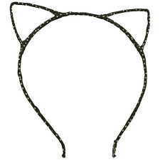 CAT EARS HEADBAND METAL MATERIAL WRAPPED CAT HAIRBAND FESTIVAL HAIR FANCY DRESS