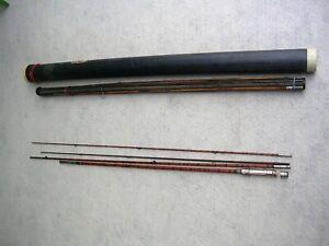 Set of 2 Vintage Bamboo Fly Rods REV-O-NOC HSB & CO.