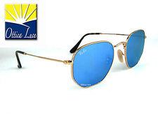 Ray Ban 3548N 001/90 Oro Specchiato Blu 001/9O Sunglass Sonnenbrille Sole
