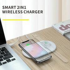 BASEUS BSWC-P19 Double Bases Smart 2-in-1 Wireless Charger Fast Charging Pad Mat