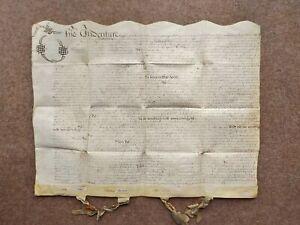 1663 Fillongley Staffordshire 17th century Vellum Deed Document Indenture