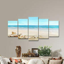 Framed Canvas Print Photo Picture Wall Art Home Dec Blue Poster Seascape Paintin