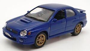 Welly 1/34-39 Scale 42342 - 2002 Subaru Impreza WRX STI Pull Back And Go - Blue