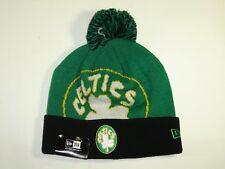 New Era NBA Boston Celtics Team Logo Cuffed Pam Knit Beanie Hat Cap NewEra