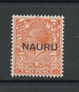 NAURU SG 16 GV 1923 2d OVERPRINT IN THE MIDDLE VALUE. MNH