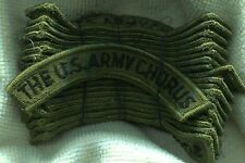 DEALER LOT OF 20 US Army The US Army Chorus OD Subdued Patch Tab