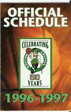 1996-97 BOSTON CELTICS NBA POCKET SCHEDULE: 50th SEASON! - FREE SHIPPING!